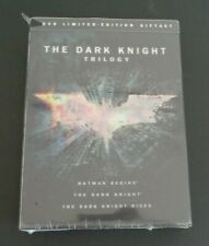 The Dark Knight Trilogy (DVD, 2012, 3-Disc Set, Limited Edition Gift Set) NEW