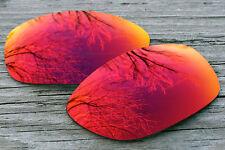 Purple Red Mirrored Polarized Sunglass Lenses for Oakley Pit Bull Dark Grey Tint
