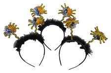 Halloween 3 X Cabeza Banda De Banda de Cabello Deeley Boppers Arañas Oropel Fancy Dress