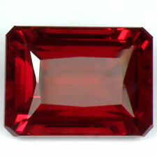 14x10mm OCTAGON-FACET ENHANCED DEEP-RED NATURAL BRAZILIAN TOPAZ (APP £690)