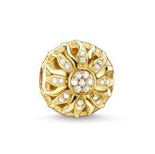 Genuine New Thomas Sabo 18k Yellow Gold On Silver Karma Bead, Sunshine K0031