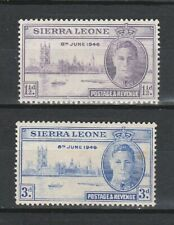 1946 SIERRA LEONE VICTORY SET  SG  201/2 M/MINT