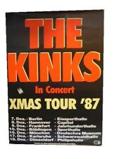 The Kinks German Tour Poster Berlin XMAS Christmas 1987