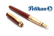 Pelikan Celebry P580 Venetian Red Fountain pen 14K Gold Broad Nib Vintage Stock