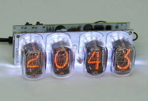 Assembled Nixie clock - in12 tube, white backlight