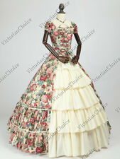 Victorian Regal Queen Dress Cosplay Reenactment Steampunk Theater N 024 XL