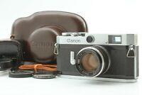 【EXC+5 in Case w/ Hood】 Canon P Rangefinder Film Camera w/ 50mm f/ 1.8 L39 JAPAN