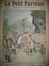 ELECTIONS MUNICIPALES LES COLLEURS D'AFFICHE JOURNAL LE PETIT PARISIEN 1908