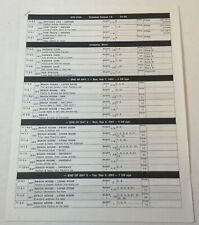 ONE TREE HILL set used SHOOTING SCHEDULE ~ Season 1, Episode 3