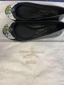 Vivienne Westwood + Melissa Shoes - VW Space Love 22 Black Wing Orb Size 3
