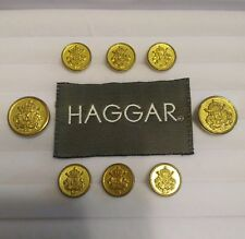 Haggar Gold Blazer Buttons Suit Sport Coat Jacket Crown Shield