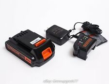Black & Decker  20V Lithium Ion 1.5Ah Battery and Charger Li-Ion LBXR20 NEW
