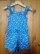 George Baby Girl Blue Flower Romper 18-24 Months