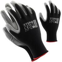 Arbeitshandschuhe 12 Paar Montagehandschuhe Handschuhe PU Gr. 7 - 10 NEU TOP