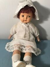 """Vintage 21"""" Composition doll, Straw body. Very Sweet, L@K!"""