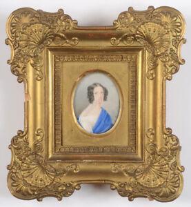 """Caroline Pienczykowska (b. ca. 1790) """"Portrait of a Young Lady"""", Fine Miniature"""