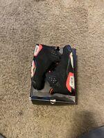 Nike Air Jordan Retro 6 VI Black Infrared Size 9 Mens 384664 023
