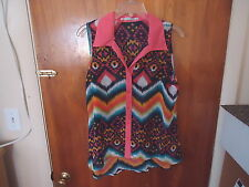 """Womens Cupids Diary Size L Multi Color Button Down Sleeveless Top """" BEAUTIFUL TO"""