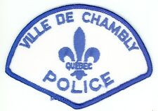 Ville de Chambly Police, Quebec, Canada HTF Vintage Uniform/Shoulder Patch