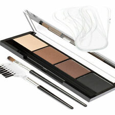 Yurily Eyebrow Kit 4 Powders, 6 Shaped Stencils, Angled Brush & Comb