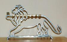 Lion of Judah Hanukkah Menorah - Hand Made - Non Tarnish - With Candles