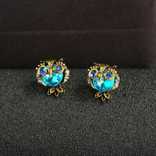 Animal Gift Vintage Women Diamond Jewelry New Lucky Brand Owl Stud Earrings