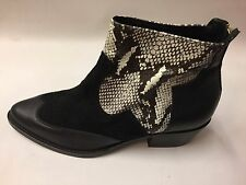 New Women's John Lewis Smart Real Leather Snakeskin Ankle Boots UK 6 EU 39