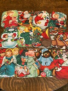 Vintage Box of Jolly Jumbo Unused (12) Christmas Stand-up cards by Charlot Byi