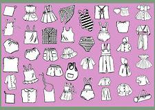 Nr. 101 - 36 Schnittmuster Puppenkleidung Grundausstattung für Babypuppen 43cm