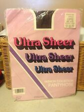 wow! Vintage ultra sheer coffee nude pantyhose one size