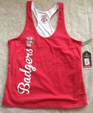Wisconsin Badgers, Colosseum, Women's Reversible Tank Top; Size Large