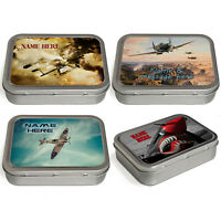 Personalised Plane Tobacco Tin 2oz Baccy Fathers Day Cigarette Birthday Gift