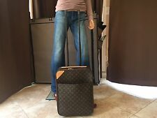 Auth Louis Vuitton Monogram Pegase 45 Rolling Carry-On Suitcase Luggage