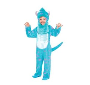 Monsters Inc University Sulley Costume Toddler 3-4T Sully Halloween Jumpsuit Boy