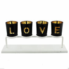Wooden Modern Tabletop Candle & Tea Light Holders