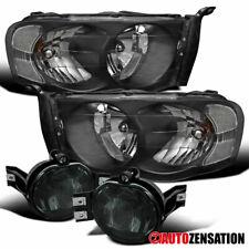 For Dodge 02-05 Ram 1500 03-05 Ram 2500 3500 Black Headlights+Smoke Fog Lamps
