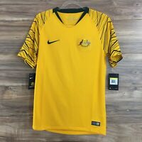 Nike Australia Gold Cup Home Stadium Football Soccer Jersey 2018 Size S New