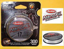 BERKLEY NANOFIL Fishing Line 17lb-300yd #NF30017-CM CLEAR MIST FREE USA SHIP!