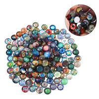 100pcs 14mm Mixed Round Mosaic Tiles DIY Crafts Glass Mosaic Jewelry Making