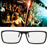 2Pcs Clip-On Type 3D Glasses Circular Passive Polarized For TV Real 3D Cinema