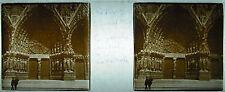 Plaque photo stéréoscopique photographie Porche de la Cathédrale de Reims 1929