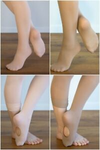 DANCE TIGHTS TRIO PACK Ballet Pink or Tan/Footed or Convertible Save on 3 Pairs