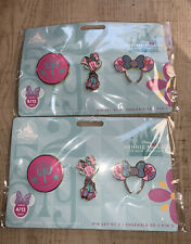 DISNEY MINNIE MOUSE MAIN ATTRACTION PIN SET ITS A SMALL WORLD APRIL IN HAND