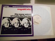 LP JAZZ Cathy Berberian-magnificathy (10) canzone Wergo Spectrum nuova musica