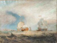 Huge 19th Century Admiral Von Trump's Barge Ship Texel JMW TURNER (1789-1862)