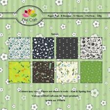 Dixi Craft Paper Pad Sports Background Green 15cm x 15cm