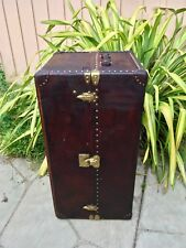 Antique Louis Vuitton Leather Trunks Antique BARN find RARE Unique purse bag