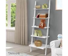 Wooden 5 Tier Bathroom Bedroom Ladder Storage Photo Rack Utility Shelf - White