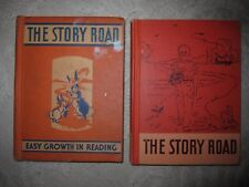 Vtg HC books, The Story Road, Easy Growth in Reading, textbook primer 1940, 1952