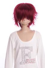 w-01-118 ROJO RED corto 35cm cosplay peluca peluca PELO PELO ANIME MANGA